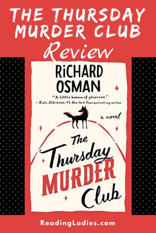 The Thursday Murder Club by Richard Osman (cover) Image: red and black lettering