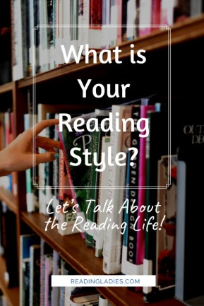 What is your reading style (Image: someone is choosing a book from library shelves)