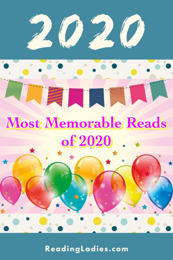 Most Memorable Reads of 2020 (Image: a colorful banner, confetti, and colorful baloons)