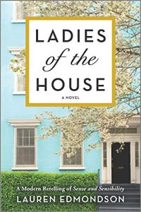 Ladies of the House by Lauren Edmondson (cover) Image: ai large two story blue house