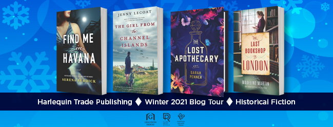 a collage of four books on the historical fiction blog tour