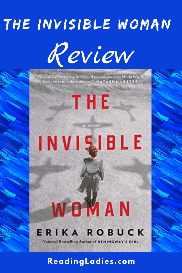 The Invisible Woman by Erika Robuck (cover) Image: a woman walks with her back to the camera across an empty field with shadows of airplanes on the ground
