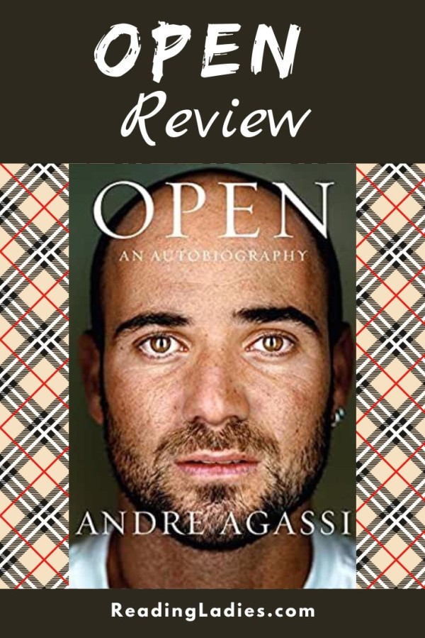 Open by Andre Agassi (cover) Image: a head shot of Andre Agassi