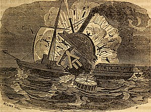 a black and white drawing of the doomed Pulaski