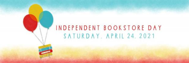 Independent Book Store Day Banner (books and balloons)