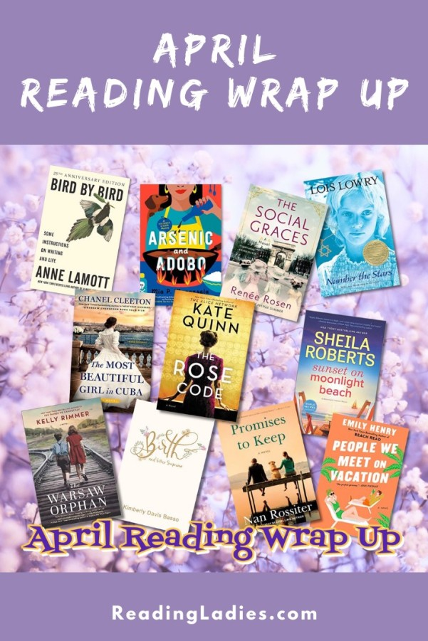 April Reading Wrap Up (collage of book covers listed in post)