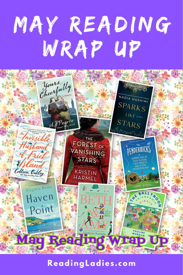 May 2021 Reading Wrap Up (collage of book covers over a floral background)