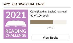 2021 Goodreads Reading Challenge Goal 62/100