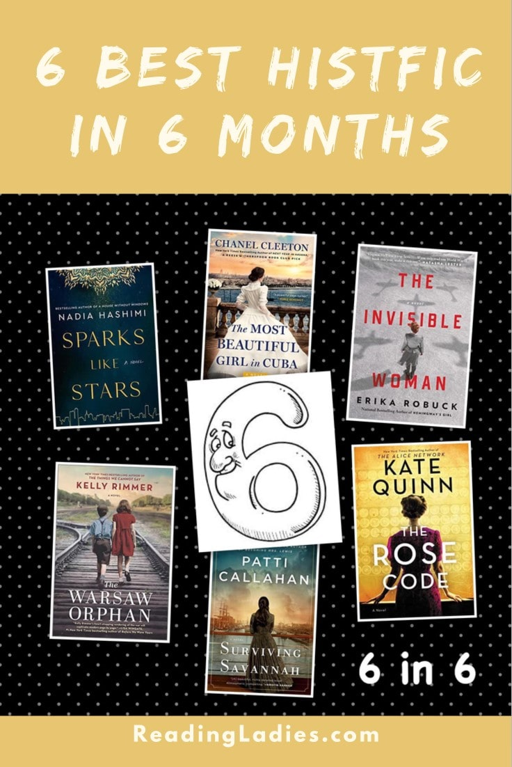 6 best histtorical fiction in 6 months (collage of covers)