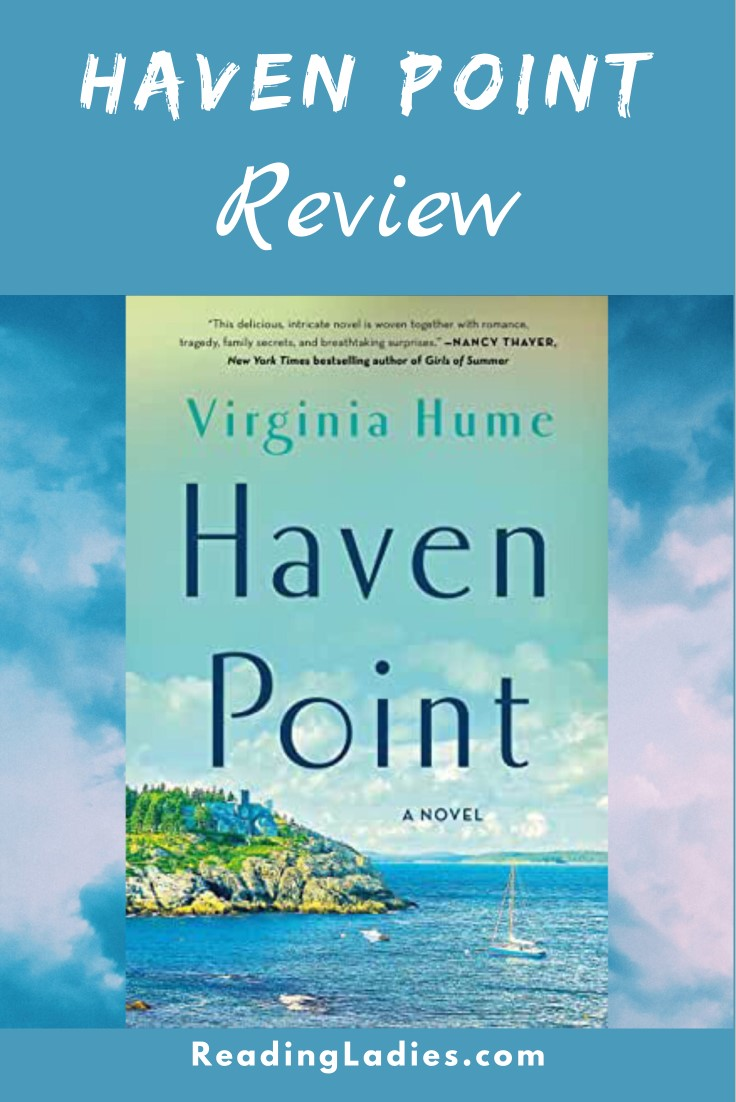 Haven Point by Virginia Hume (cover) Image: a large home sits on a point of land overlooking the ocean