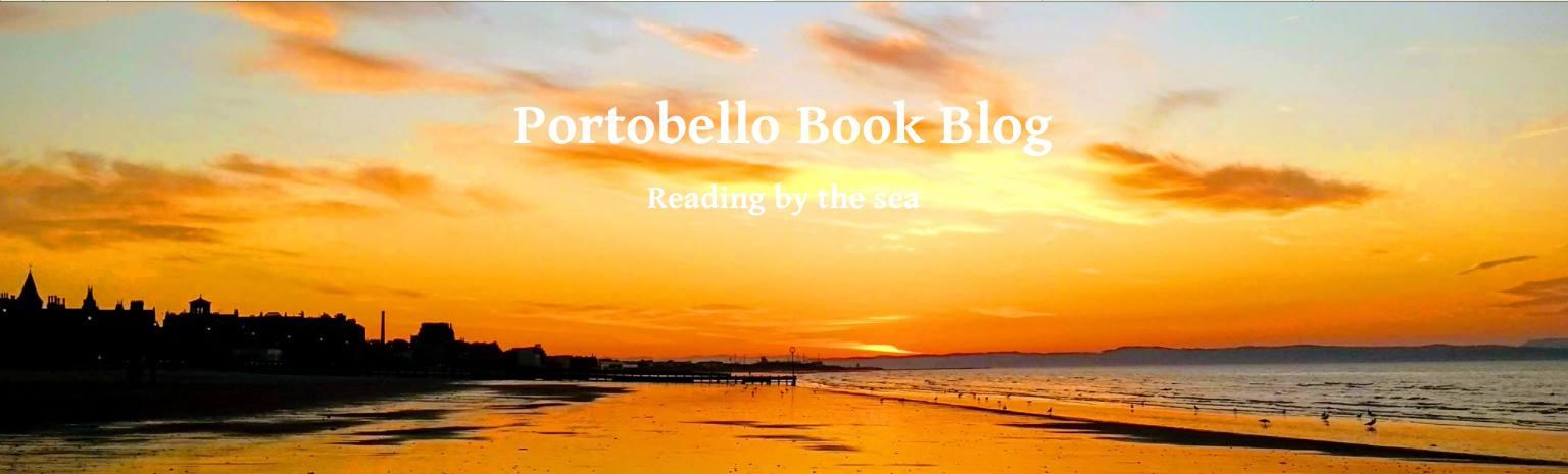 Portobbello Book Blog header (a golden sunset on the beach