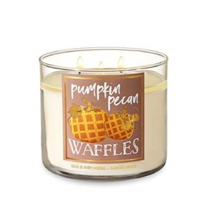 Bath and Body Works pumpkin pecan waffles scented 3 wick candle