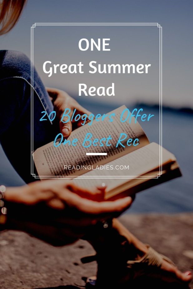 One Great Summer Read (20 Bloggers Offer ) imOne Best Rec) Image: tight focus of a woman sitting beside water reading