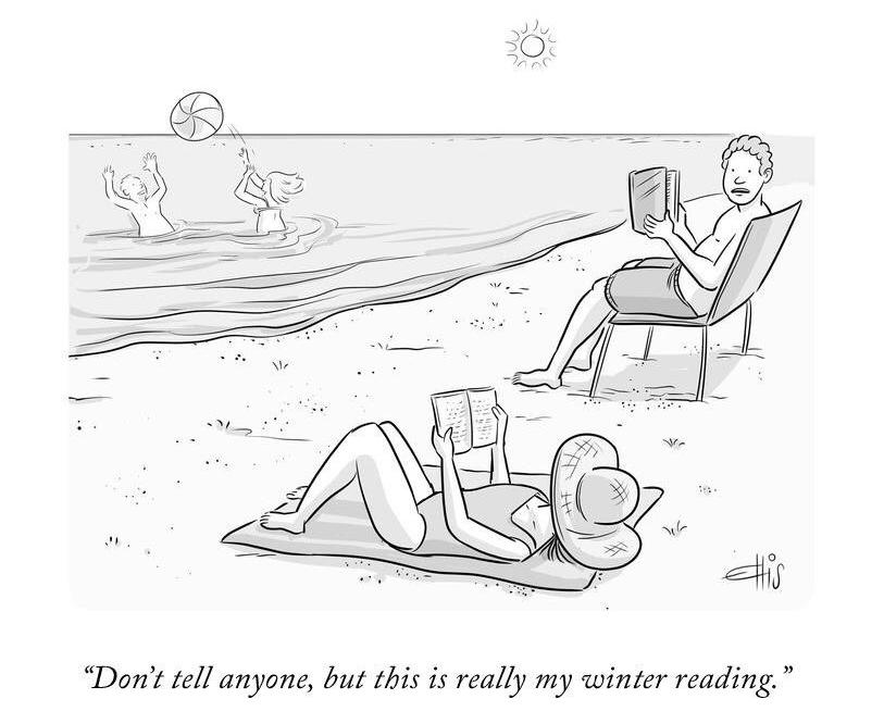 beach reads cartoon