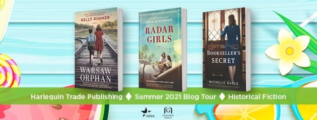 Harlequin Historical Fiction 2021 Blog Tour Banner (showing the covers of three books)