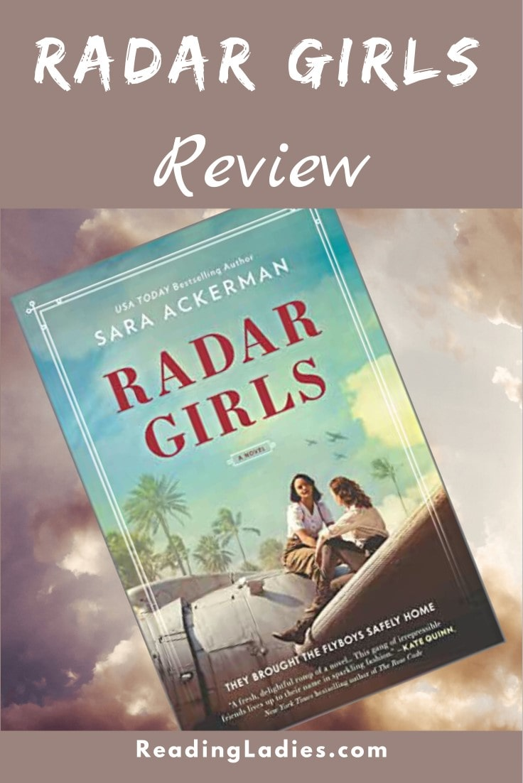Radar Girls by Sara Ackerman (cover) two young women sit on the wing of an old airplane