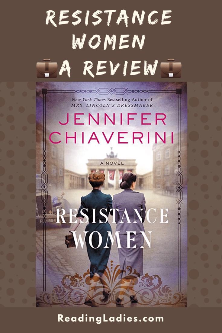 Resistance Women by Jennifer Chiaverini (cover) Image: two women walking away from the camera across an empty plaza