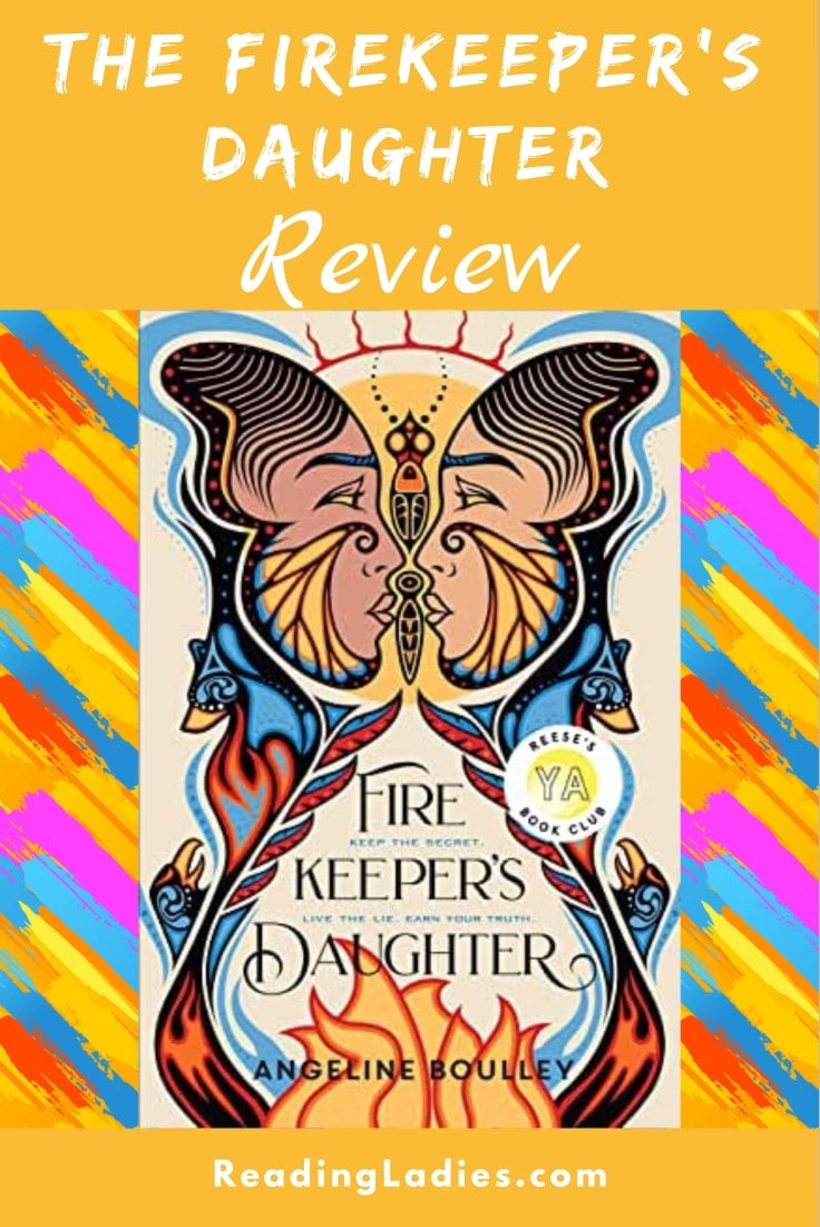 The Firekeeper's Daughter by Angeline Boulley (cover) Image: profiles of a young man and woman in cultural adornments