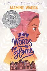 Other Words For Home by Jasmine Warga (cover) Image: the profile of a young girl wearing a headscarf