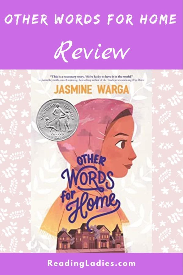 Other Words For Home by Jasmine Warga (cover) Image: the profile of a young Syrian girl in a head scarf