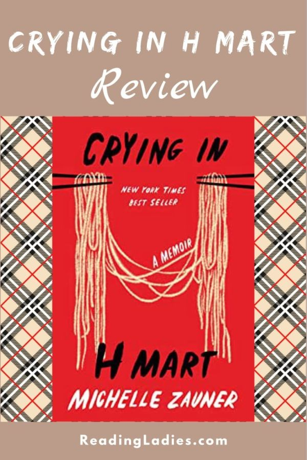 Crying in H Mart by Michelle Zauner (cover) black and white text on a red backbround